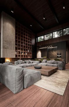 Rustic Modern House Interior Rich & Exquisite Modern Rustic Home Interior Modern House Design, Modern Interior Design, Interior Design Inspiration, Interior Architecture, Interior Ideas, Design Ideas, Luxury Interior, Loft Design, Design Interiors