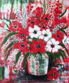 """""""fiori per l'anniversario"""" Acrilico su tela 50x60 by M.Cristina De Amicis"""