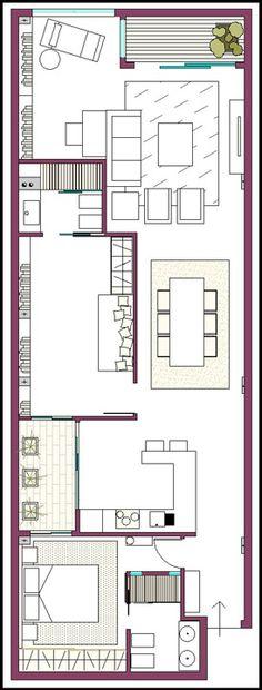 Planos 3d casa 3 dormitorios vivienda moderna planos de for Distribucion de una casa
