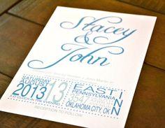 Modern Elegant Wedding Invitation by thepaperjars on Etsy, $2.00
