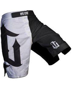 War Tribe Black   White Icon MMA Shorts NOGI Jiu Jitsu MMA Fight Wear 36bf3c212a754