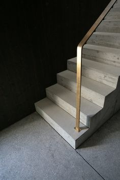 Ideas Exterior Stairs Concrete House For 2019 Metal Stair Railing, Concrete Staircase, Staircase Handrail, Tile Stairs, Glass Stairs, Curved Staircase, Concrete Houses, House Stairs, Garden Stairs