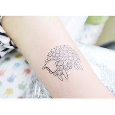 : a little Sheep Black ver. . . #tattooistbanul #tattoo #tattooing #sheep…
