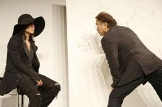 hyde and Yoshitaka Amano (#FinalFantasy series) collaborate for an art exhibit