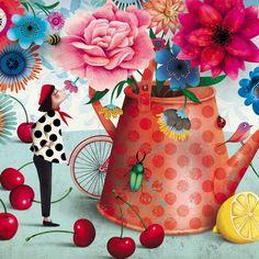 Carte postale fleurs Marie Desbons - lamarelle.net