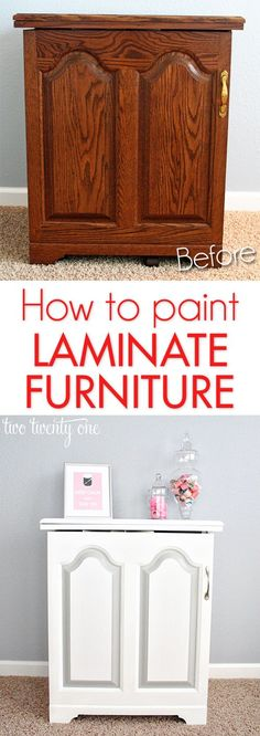 How to paint laminate furniture!