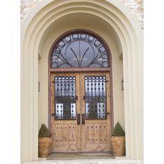 Distressed wooden front door