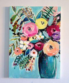 Soooooooo close...... I can feel it.... #wip #almosttherebutnotquite • • • #paintings #abstractart #artsy #colourfulart #artwork #plants #flowers #paintedflowers #paintedblossoms #paintedblooms #blooms #mixedmedia #pinkandgreencreative #artplay #originalart #originalpaintings #folkart #interiordesign #artistsofinstagram #ayearofpainting