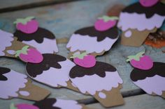 12 Ice Cream Cone Cupcake Toppers by paperpatterns on Etsy, $12.00