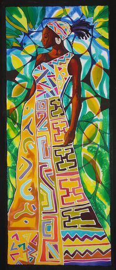 African Queen Painting by Lee Vanderwalker