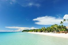 White Beach on the 7km long island of Boracay, one of the most popular holiday destinations in the Philippines.