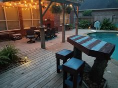 Tree Stump, Weekend Projects, Patio, Outdoor Decor, Table, Home Decor, Decoration Home, Terrace, Room Decor