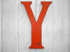 Rustic Wooden Letter Y 12 inch Shabby Chic Decor by LettersofWood, $25.00