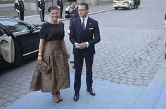 King Carl Gustaf and Queen Silvia of Sweden, Crown Princess Victoria and Prince Daniel of Sweden, Prince Carl Philip of Sweden, Princess Madeleine of Sweden and her husband Christopher O'Neill attended a concert held by Swedish Royal Opera on the occassion of 70th birthday of King Gustaf at Stockholm Nordic Museum.