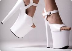 In the 1970s, platform shoes went hand in hand with the disco era. Often featuring more than four inches of thick, stacked plastic bases, these shoes were sported on dance floors by both men and women and loved for their fashionable appeal without the discomfort of their counterparts, stilettos.