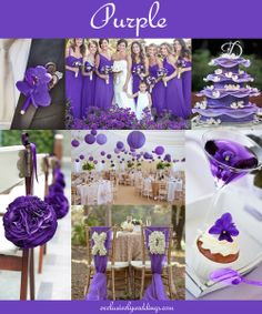 Purple Wedding  - Read more about Purple on our blog post: http://blog.exclusivelyweddings.com/2014/02/15/the-10-all-time-most-popular-wedding-colors/