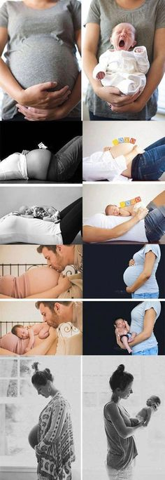 Zoom: Before and After: The miracle of life - Fotoideen und Fototipps für das perfekte Foto - Baby Newborn Pictures, Maternity Pictures, Pregnancy Photos, Baby Pictures, Pregnancy Info, Pregnancy Care, Pregnancy And Birth, Husband Pregnancy Announcements, Newborn Announcement