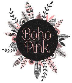 Boho Pinkl Logo Logo de gitana Premade por GypsySoulDesignShop