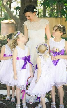 Scoop Sleeveless Ball Gown Adorable #FlowerGirl Dresses