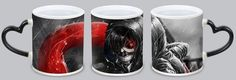 Look tokyo ghoul Anime Customized kaneki ken gesture, claw Magic Mugs. This is a ceramic cup, heart-shaped handle is very beautiful.