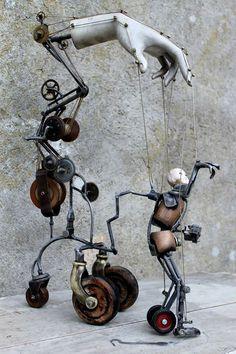 Beautiful mixed media mechanical assemblage art sculpture – Milley is Home Assemblage Art Sculpture, Art Dolls, Scrap Metal Art, Sculpture Art, Mechanical Art, Recycled Art, Kinetic Art, Sculpture, Found Art