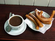 See 3241 photos from 19577 visitors about churros, chocolate, and authentic. Best place to have churros! Tapas Recipes, Pastry Recipes, Gourmet Recipes, Desserts Espagnols, Dessert Recipes, Spanish Tapas, Spanish Food, Homemade Churros Recipe, Chocolate Caliente