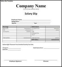 Image Result For Salary Slip Format Word Word Template Payroll Template Resume Design Template