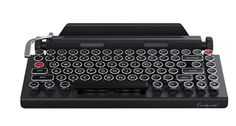 Qwerkywriter Typewriter Wireless Mechanical Keyboard with Integrated Tablet Stand Tablet Stand, Scribble, Typewriter, Computer Keyboard, Best Gifts, Writers, Computer Keypad, Doodle, Writer