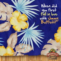 #ThrowbackThursday - share your memories with us. #TBT #jimmybuffett