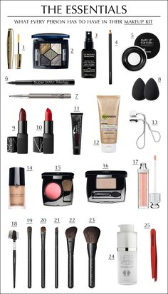 The Essentials: What every person has to have in their makeup kit.  Makeup kit must-haves. Get the links on www.line-mag.com