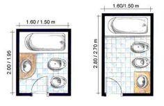 Si no es necesario el bidet en baños tan pequeños como el primero, no lo instales.