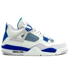 308497-141 Air Jordan 4 Retro Military Blue White   $105   http://www.sneakerforsale2014.com/308497-141-air-jordan-4-retro-military-blue-white-60.html