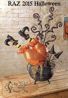 halloween whimsy at its best raz witch butt with legscute - Raz Halloween Decorations