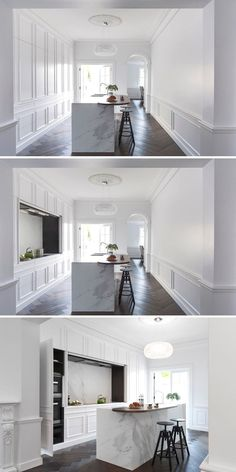 22 Beautiful Kitchen Flooring Ideas for Your New Kitchen Kitchen Cabinet Styles, White Kitchen Cabinets, Kitchen Appliances, Kitchen Island, Wall Cabinets, Kitchen Sink, Black Kitchens, Home Kitchens, Tiny Kitchens