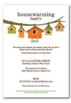 Housewarming Party Invitations  Misc Occasions  Housewarming