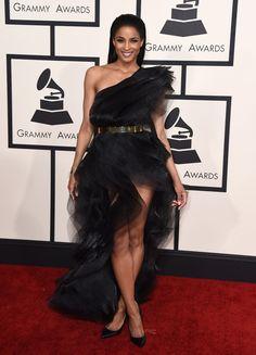 2015 Grammy Awards Red Carpet - Ciara in Alexandre Vaulthier