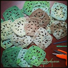 Granny squares for a new project..