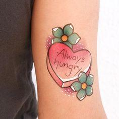 Tattoo Traditional Heart Alex Strangler Ideas For 2019 Girly Tattoos, Cute Tattoos, Kawaii Tattoos, Awesome Tattoos, Food Tattoos, Body Art Tattoos, Heart Tattoos, Candy Tattoo, Cupcake Tattoos