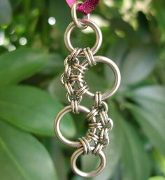 Stainless Steel Stepping Stones Chainmail pendant by RingedDesigns, $18.00