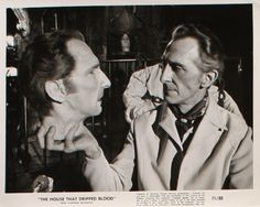 Peter Cushing in the Waxworks segment of The House That Dripped Blood (1970).