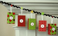 Christmas Advent Calendar Garland. $60.00 on easy.....I think NOT...this is totally DIY!
