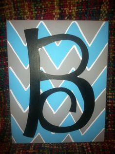 Chevron initial canvas