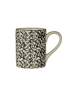Day Home Manda Mug: Enjoy your tea or coffee from this sophisticated winding floral design mug.