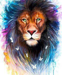 art lion lion ideas baby lions male lion lion facts lion print lion cat inspirational lion quotes pictures of lions Animal Paintings, Animal Drawings, Murciano Art, Watercolor Lion, Tattoo Watercolor, Lion Love, Lion Painting, Lion Wallpaper, Prophetic Art