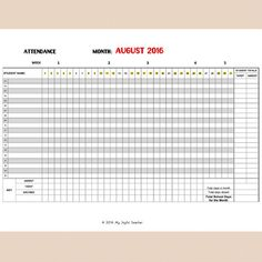 8 best attendance sheets images attendance sheets back to school