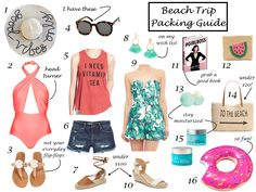 Beach Trip Essentials | Beach packing guide | Beach Vacation | It's All Chic To Me