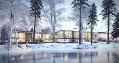 Hotel in Czemierniki. Visualization created by Wizard Production - Architecture visualization studio