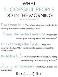 This is what successful people do in the Morning