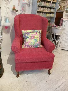 Vintage Chic Furniture Schenectady NY: MY NEW CHENILLE SLIPCOVERED CHAIRS