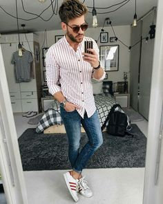 Cool Casual Street Style Outfit Ideas To Make You Look Sharp Casual outfit ideas for menNot Cool Not Cool may refer to: Nice Casual Outfits For Men, Men Casual, Casual Chic, Mens Fashion Blog, Fashion Moda, Fashion Guide, Streetwear, Checked Shirt Outfit, Mode Outfits